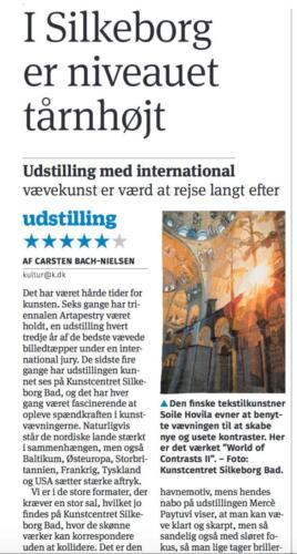 Artapestry6, Kristeligt Dagblad, Tanska 5/2021